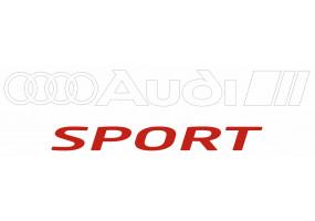 Sticker AUDI sport blanc rouge