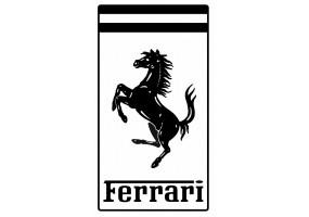 Sticker FERRARI noir blanc