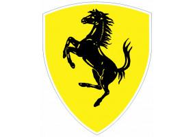 Sticker FERRARI jaune noir voiture