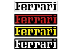 Sticker FERRARI lettrage couleur
