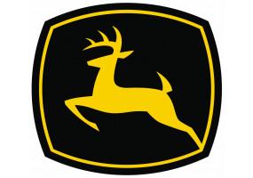 Sticker John Deere logo noir jaune