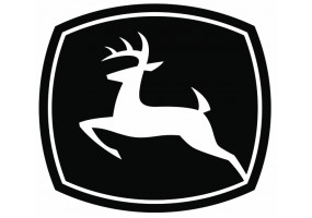 Sticker John Deere logo noir blanc