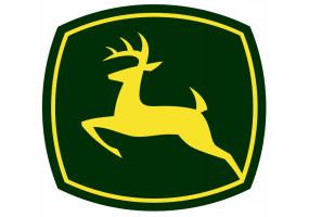 Sticker John Deere logo jaune vert