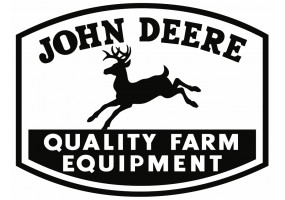 Sticker John Deere vintage noir blanc