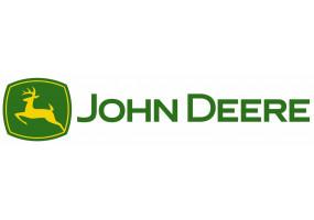 Sticker John Deere vintage jaune vert