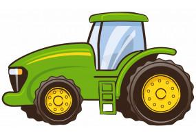 Sticker John Deere tracteur enfant