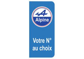 Sticker ALPINE plaque immatriculation