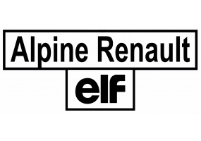 Sticker ALPINE renault elf