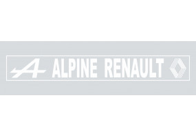 Sticker ALPINE renault gris blanc