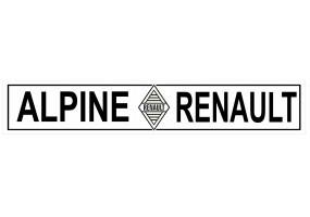 Sticker ALPINE renault noir blanc
