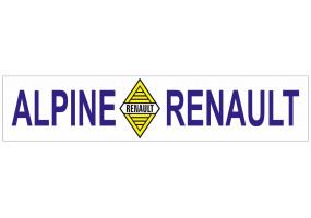 Sticker ALPINE renault jaune bleu
