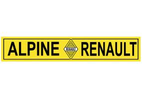 Sticker ALPINE renault jaune noir
