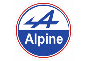 Sticker ALPINE logo bleu blanc rouge