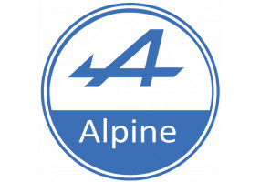 Sticker ALPINE logo bleu blanc