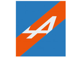 Sticker ALPINE logo couleur