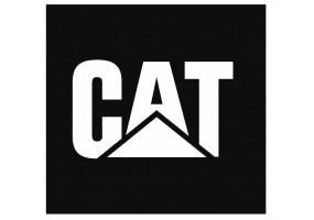 Sticker CATERPILLAR CAT blanc noir