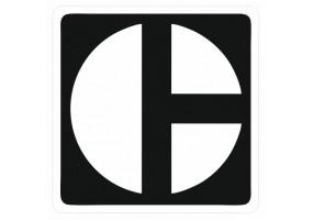 Sticker CATERPILLAR logo blanc noir