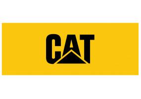 Sticker CATERPILLAR logo jaune noir