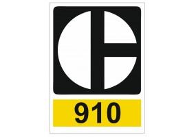 Sticker CATERPILLAR logo 910