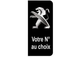 Sticker PEUGEOT plaque immatriculation