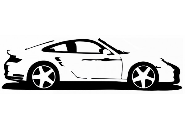 Sticker PORSCHE 911 voiture
