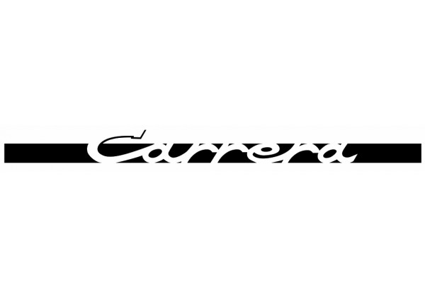 Sticker PORSCHE logo gris blanc