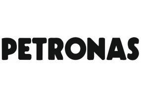 Sticker PETRONAS logo blanc gris