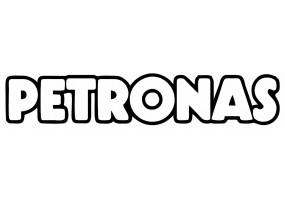 Sticker PETRONAS logo blanc noir