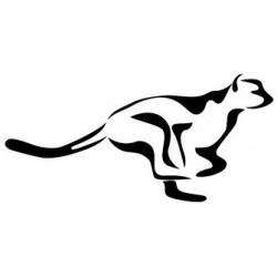 Sticker Puma silhouette