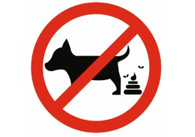 Sticker interdit aux animaux et dejections