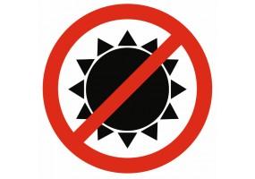 Sticker soleil interdit
