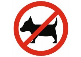 Sticker interdit aux chiens