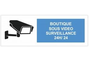 Sticker Boutique sous vidéo surveillance
