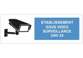 Sticker établissement sous vidéo surveillance
