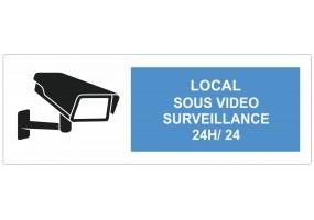 Sticker local sous vidéo surveillance