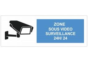 Sticker zone sous vidéo surveillance