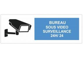 Sticker bureau sous vidéo surveillance