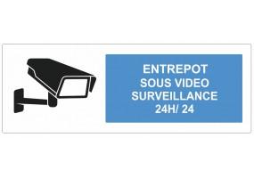 Sticker entrepot sous vidéo surveillance