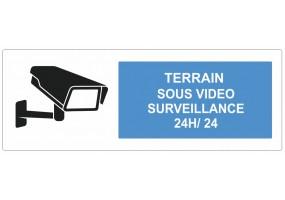 Sticker terrain sous vidéo surveillance