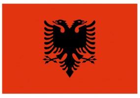 Sticker drapeau Albanie