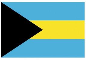 Sticker drapeau Bahamas