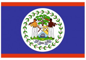 Sticker drapeau Belize