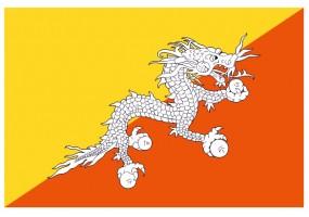 Sticker drapeau Bouthan