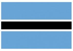 Sticker drapeau Botswana