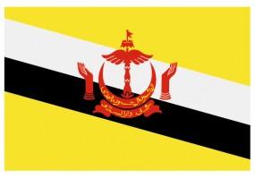 Sticker drapeau Brunei-Darussalam