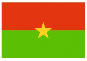 Sticker drapeau Burkina-Faso