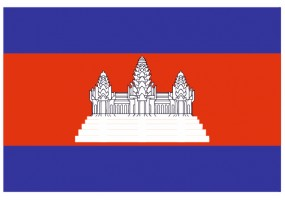 Sticker drapeau Cambodge