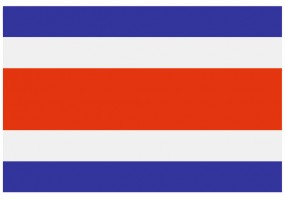 Sticker drapeau Costa-Rica
