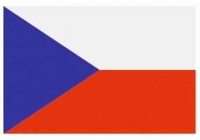 Sticker drapeau République Tcheque