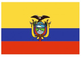Sticker drapeau Equateur